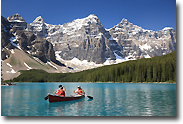 Canoe Ride in the Canadian Rockies